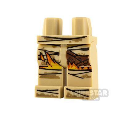 LEGO Minifigure Legs Mummy Wrappings