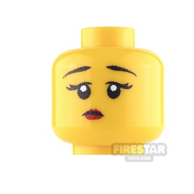 Custom Mini Figure Heads - Perplexed Girl - Yellow