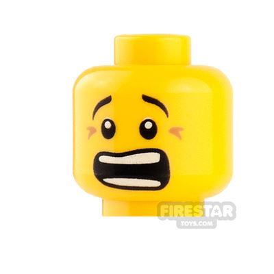 LEGO Mini Figure Heads - Serious / Open Mouth Scared