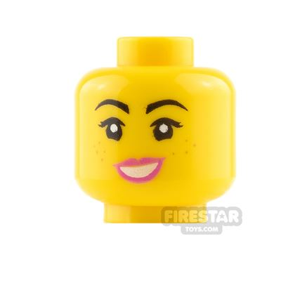 LEGO Mini Figure Heads - Happy and Angry