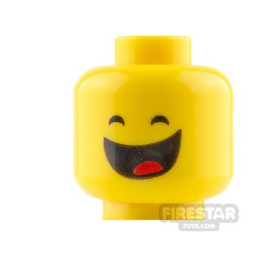 LEGO Mini Figure Heads - Benny - Grin and Frown