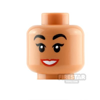 LEGO Minifigure Heads Red Lips and Smile