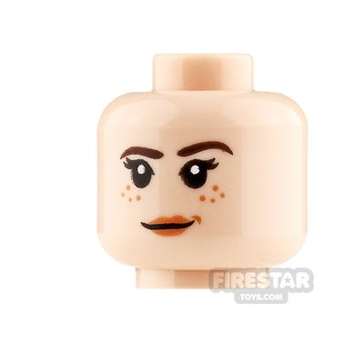 LEGO Minifigure Heads Freckles with Smile and Angry