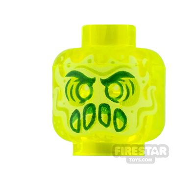 LEGO Mini Figure Heads Slime Ghost with Slime Mouth