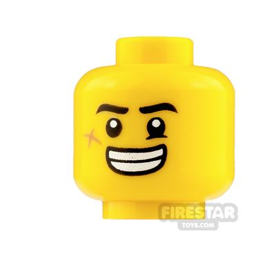LEGO Mini Figure Heads Open Mouth Smile and Angry