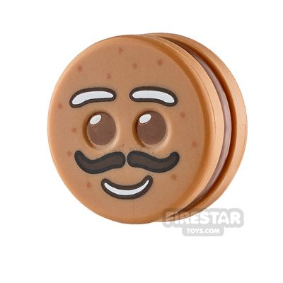 LEGO Minifigure Heads Gingerbread Man Moustache
