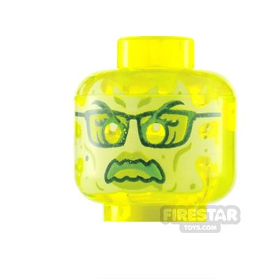 LEGO Minifigure Heads Slime Ghost with Glasses