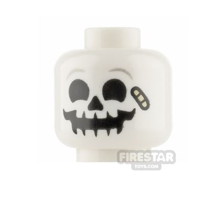 LEGO Minifigure Heads - Skull with Bandage