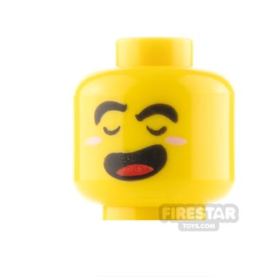 LEGO Minifigure Heads Angry and Laughing