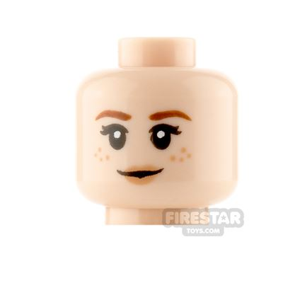 LEGO Minifigure Heads Freckles Smile and Worried