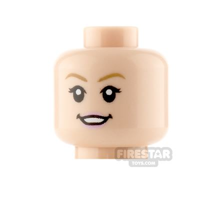LEGO Minifigure Heads Pink Lips Smile and Neutral