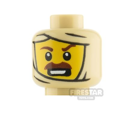 LEGO Minfigure Heads Moustache and Mummy Wrapping