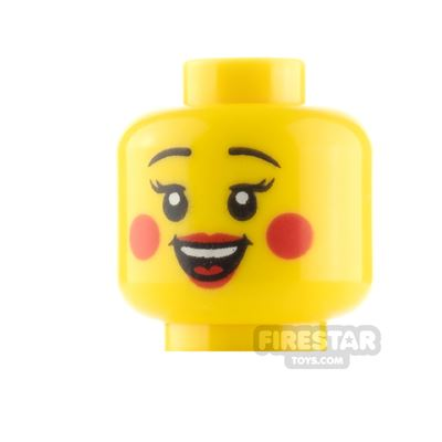 LEGO Minifigure Heads Cheek Circles Closed and Open Smile