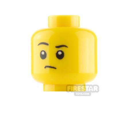 LEGO Minifigure Heads Serious and Eyes Closed