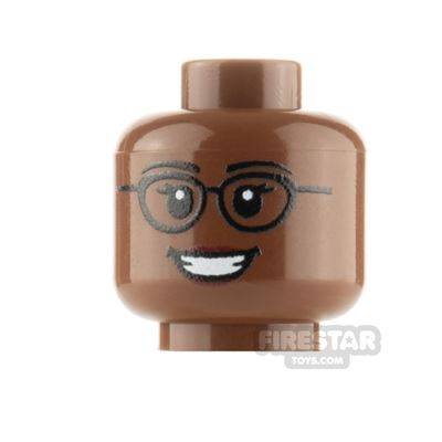 Custom Mini Figure Heads Smile With Glasses Female