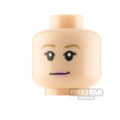 LEGO Minifigure Heads Pink Lips Neutral and Surprised