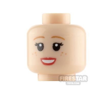 Custom Minifigure Heads Smile with Freckles