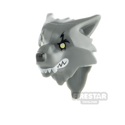 LEGO Minifigure Heads Werewolf with Yellow Eyes