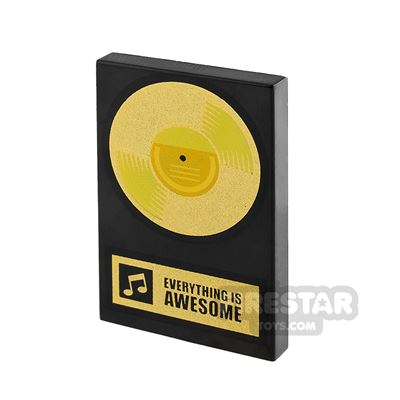 Tile 2x3 Record Gold Disc