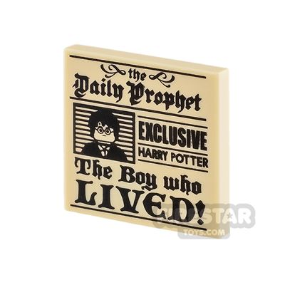Printed Tile 2x2 Daily Prophet Newspaper