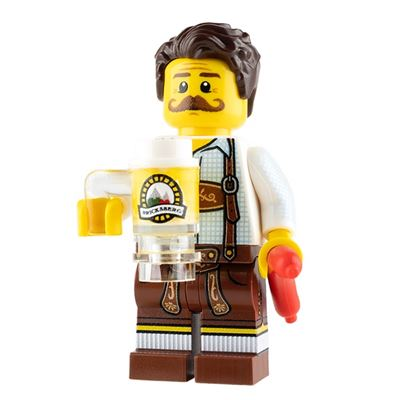 Custom Design Mini Figure - Oktoberfest Reveler - Male