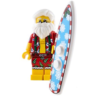 Custom Design Mini Figure - Surfin' Santa