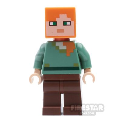 LEGO Minecraft Mini Figure - Alex - Reddish Brown Legs