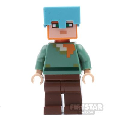 LEGO Minecraft Mini Figure - Alex with Medium Azure Helmet