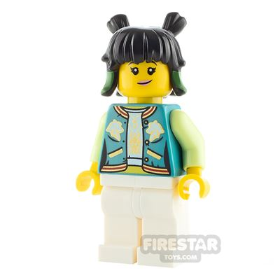 LEGO Monkie Kid Minifigure Mei Dark Turquoise Jacket
