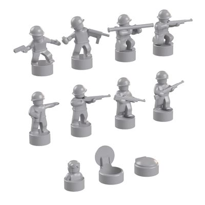 BrickMini Nano Soldiers - Light Blueish Gray Set