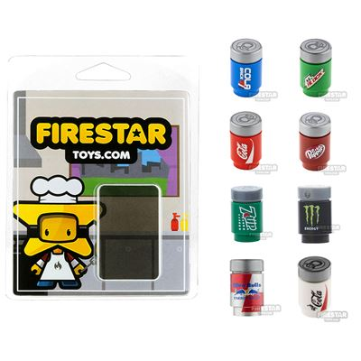 Refreshment Pack - Set of 8 Minifigure Drinks