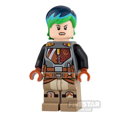 LEGO Star Wars Mini Figure - Sabine Wren - Blue and Green Hair