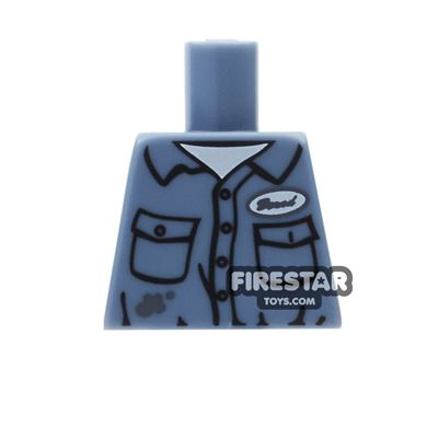 LEGO Mini Figure Torso - Janitor Uniform - No Arms