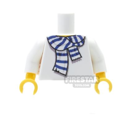 Custom Design Torso - Team Colour Scarf - White and Blue