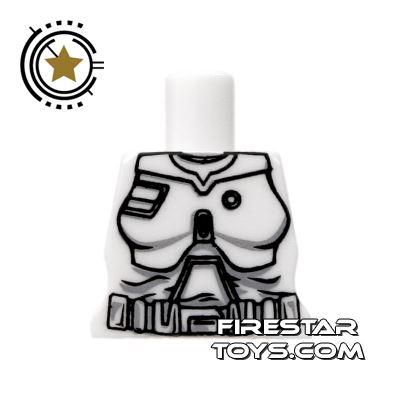 Arealight Mini Figure Torso - Battle Suit - White