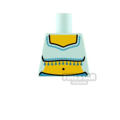LEGO Mini Figure Torso - Light Aqua Crop Top - No Arms