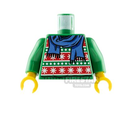 Custom Design Torso - Christmas Jumper - Green with Scarf