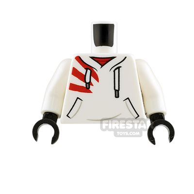 LEGO Minifigure Torso Hoodie with Red Stripes