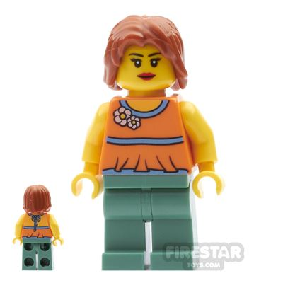 LEGO City Mini Figure - Halter Top with Flowers