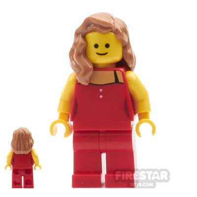 LEGO City Mini Figure - Red Strapped Top