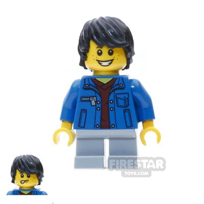LEGO City Mini Figure - Boy with Denim Jacket