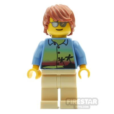 LEGO City Mini Figure - Sunset Shirt
