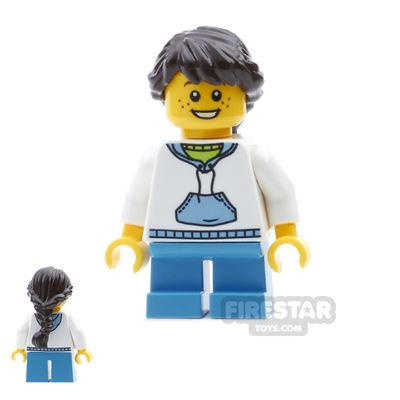 LEGO City Mini Figure - White Hoodie and Freckles