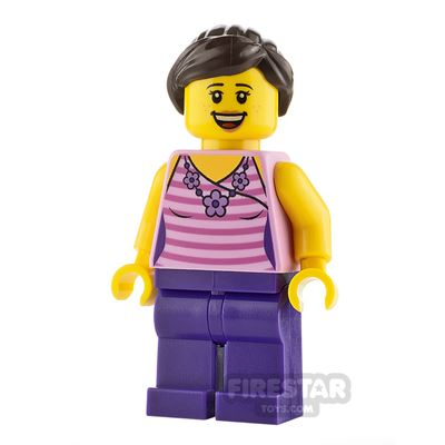 LEGO City Minifigure Female with Striped Top