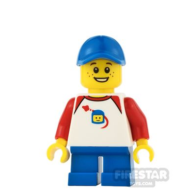 LEGO City Mini Figure - Classic Space Shirt and Freckles