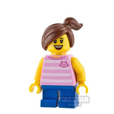 LEGO City Mini Figure - Girl with Bright Pink Top