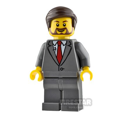 LEGO City Minifigure Man with Buttoned Suit Jacket