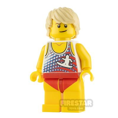 LEGO City Minifigure Surfer Swimsuit