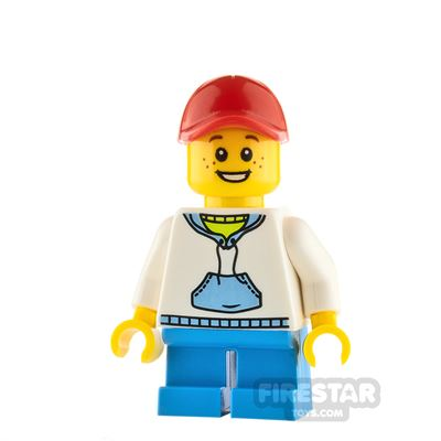 LEGO City Boy with White Hoodie