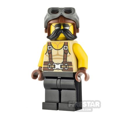LEGO City Male with Tank Top and Suspenders